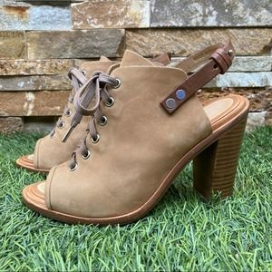 Rag & Bone Trafford Leather Lace-Up Booties